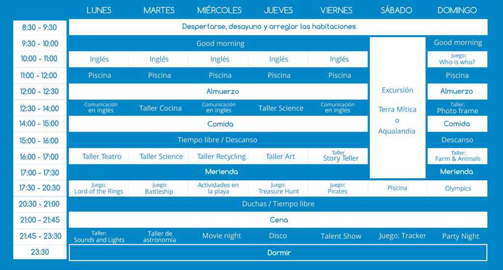 horario charlie