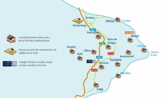 Familias británicas en Alicante - Mapa de situación de Weekend Experience