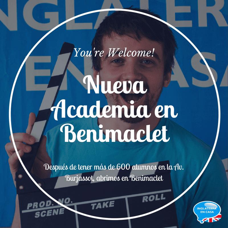Nueva academia de inglés en Benimaclet