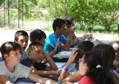 Competicion de talentos en el Campamento de verano