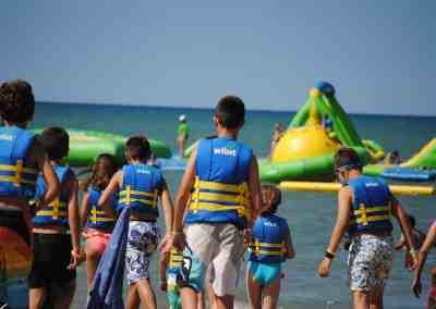 Dia de Playa en el Campamento de inglés de Alicante