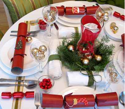 christmas table decoratios
