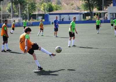 Alumnos del Campus de Futbol de inglés