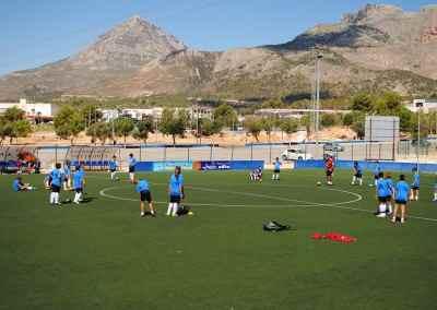 Entrenamientos en el Campus de Fútbol