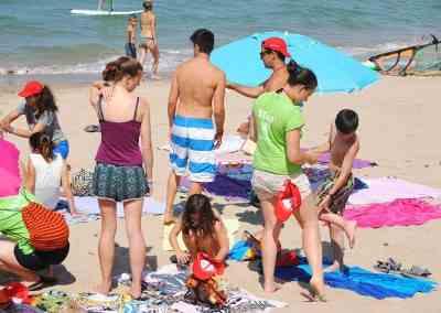 Playa y Actividades de agua en inglés