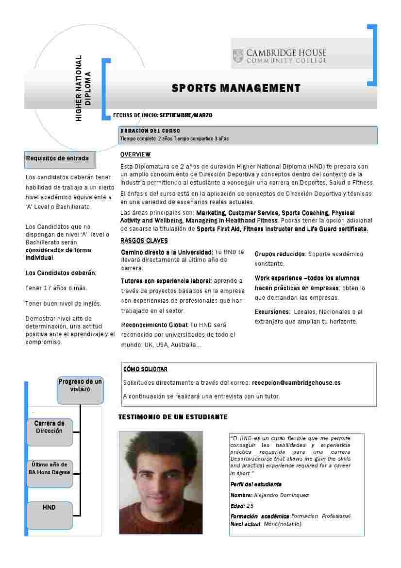Sports Management, ADE con Gestión de Instalaciones Deportivas y de Ocio