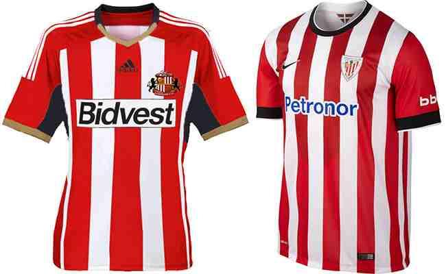 Sabías qué el Athletic de Bilbao viste rojiblanco por el Sunderland