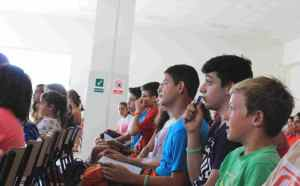 Nuevos alumnos de la escuela de verano en inglés