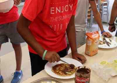Clases de Cocina en la Escuela de Verano en inglés