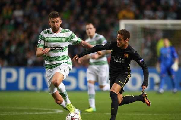 Neymar en el Celtic-Barcelona