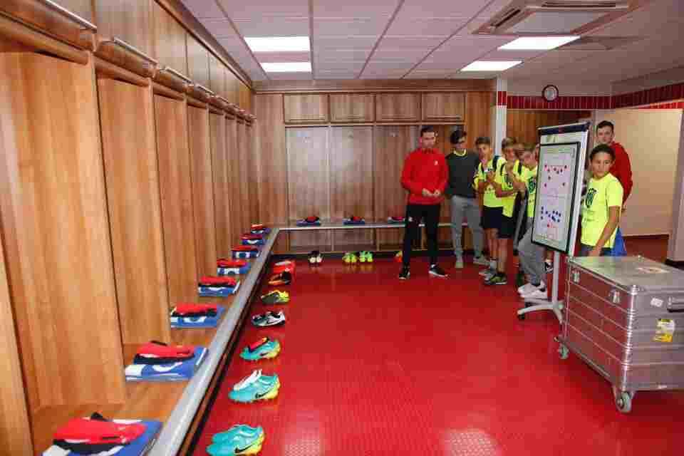 El vestuario del Sunderland, preparado para el partido