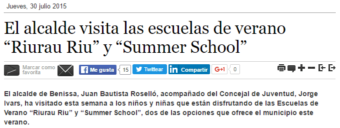 Benissa digital informacion summer school