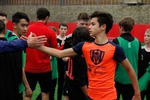 Academia de fútbol en inglés.