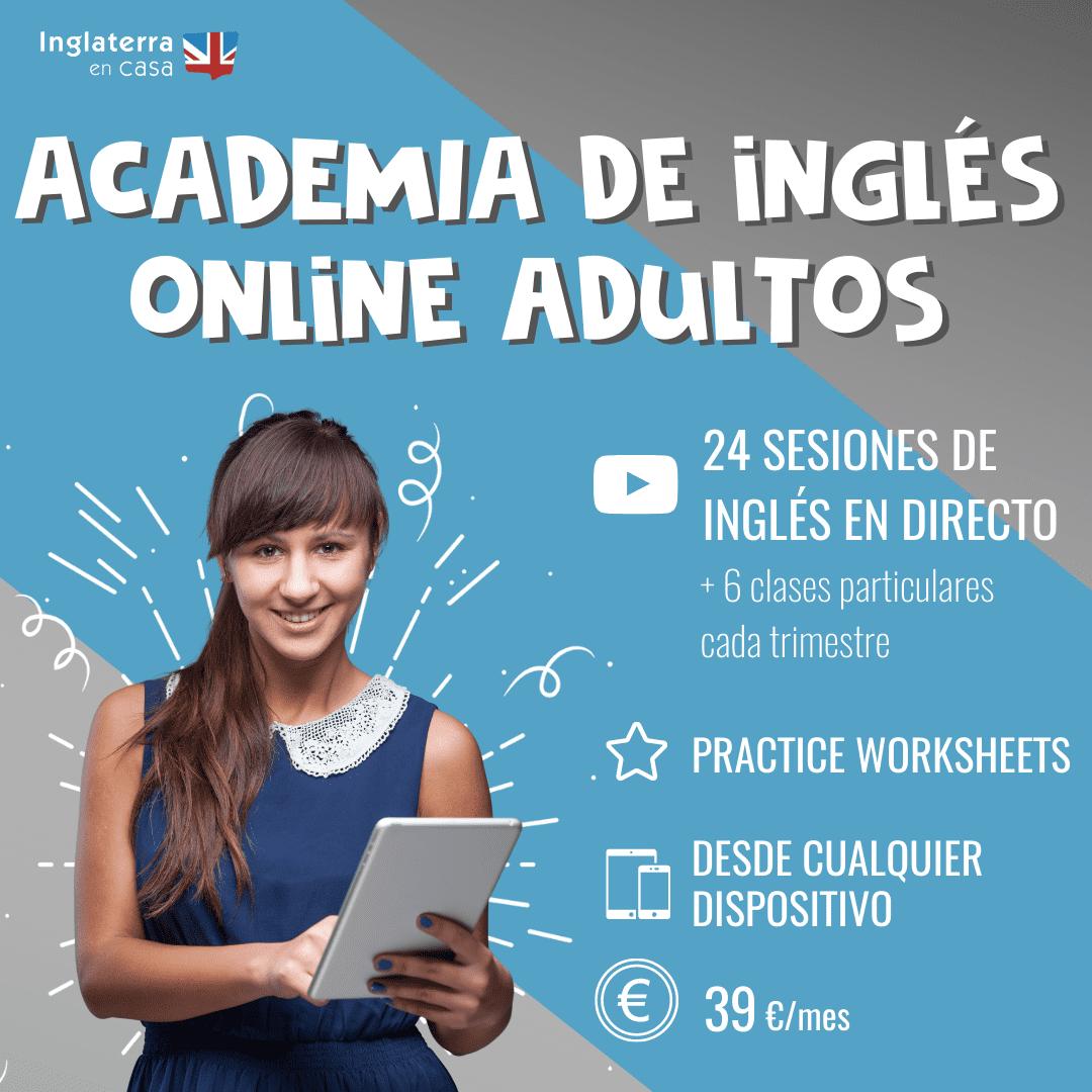academias de inglés online adultos